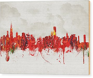 Hot Summer Day In Chicago Wood Print by Aged Pixel