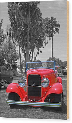 Wood Print featuring the photograph Hot V8 by Shoal Hollingsworth