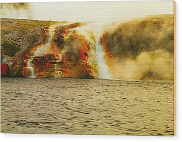 Hot Water Pouring Wood Print by Jeff Swan