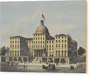Hotel Burnet Circa 1850 Wood Print by Aged Pixel