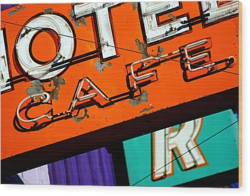 Wood Print featuring the photograph Hotel Cafe Bar In Alma by Daniel Woodrum