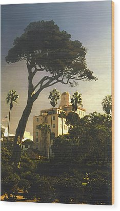 Wood Print featuring the photograph Hotel California- La Jolla by Steve Karol