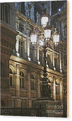 Hotel De Ville In Paris Wood Print by Elena Elisseeva