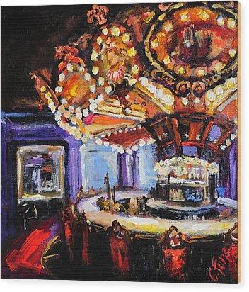 Hotel Monteleone Bar Wood Print