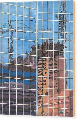 Hotel Rising Wood Print by Alika Kumar