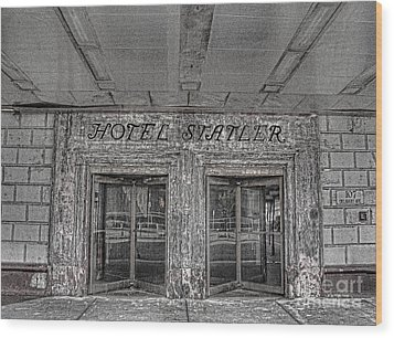 Wood Print featuring the photograph Hotel Statler Buffalo Ny by Jim Lepard