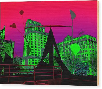 Wood Print featuring the photograph Hotlanta by Cleaster Cotton