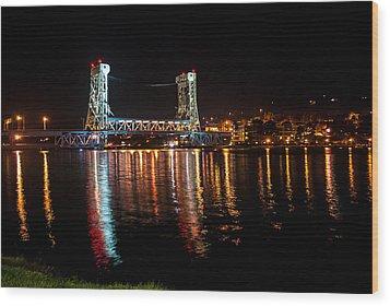 Houghton Lift Bridge  Wood Print