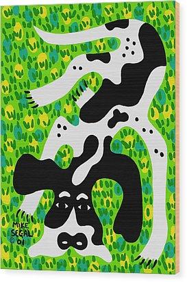 Houndog Wood Print