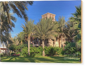 House At Madinat Jumeira Dubai Wood Print by Fototrav Print
