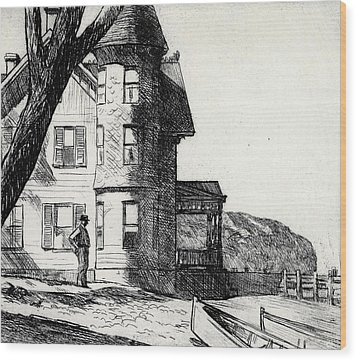 House By A River Wood Print by Edward Hopper