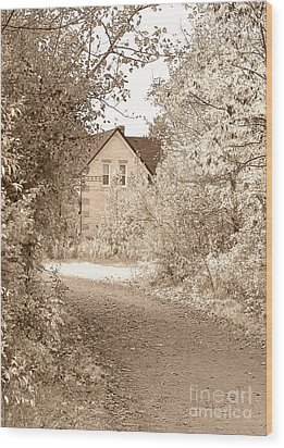 House In Autumn Wood Print by Blink Images