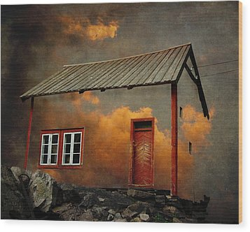 House In The Clouds Wood Print by Sonya Kanelstrand