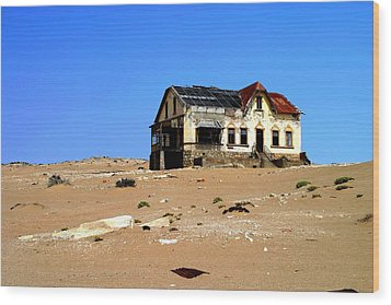 Wood Print featuring the photograph House In The Desert by Riana Van Staden