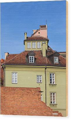 House In The Old Town Of Warsaw Wood Print by Artur Bogacki
