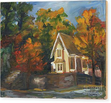 House In The Sun Wood Print by Jessica Cummings