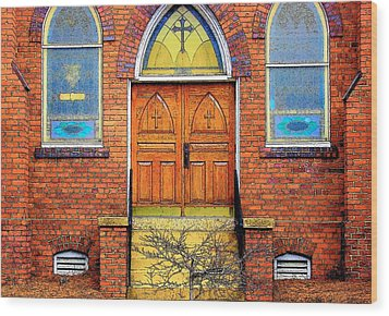 House Of God Wood Print by Rodney Lee Williams