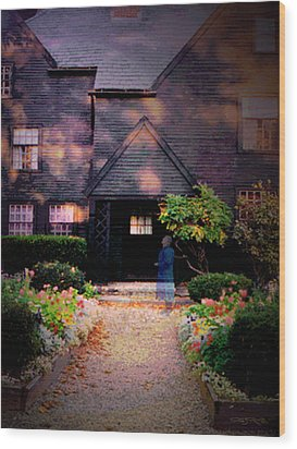 House Of Seven Gables Wood Print