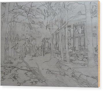 House On Grandmother Mountain Wood Print by Joel Deutsch