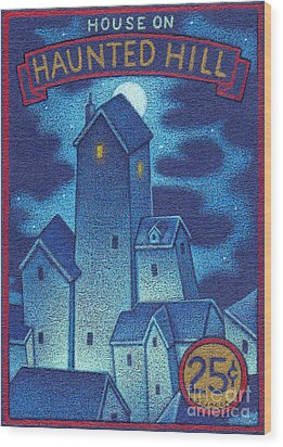House On Haunted Hill Wood Print by Thomas Sciacca