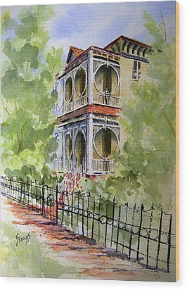 House On Spring Street Wood Print by Sam Sidders