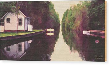 House On The C And O Canal Wood Print