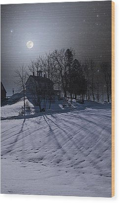 Wood Print featuring the photograph House On The Hill by Larry Landolfi