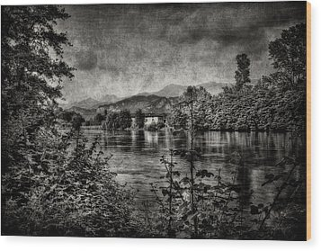 House On The River Wood Print