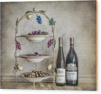 House Wine Wood Print