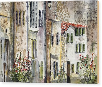 Houses In La Rochelle France Wood Print by Ginette Callaway
