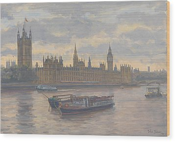 Houses Of Parliament Wood Print by Julian Barrow