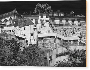 Houses On The Hill Wood Print by John Rizzuto
