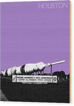 Houston Johnson Space Center - Violet Wood Print by DB Artist