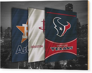 Houston Sports Teams Wood Print by Joe Hamilton