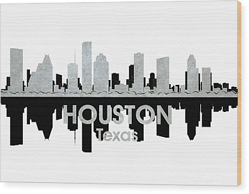 Houston Tx 4 Wood Print by Angelina Vick