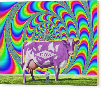 How Now Dow Cow? Wood Print by Scott Ross