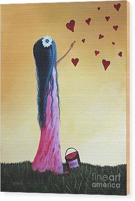 How She Says I Love You By Shawna Erback Wood Print by Shawna Erback