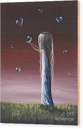 How She Says I Miss You By Shawna Erback Wood Print by Shawna Erback