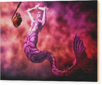 How To Catch Mermaids Wood Print by Bob Orsillo