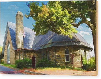 Wood Print featuring the photograph Howard County Historical Society Museum by Dana Sohr