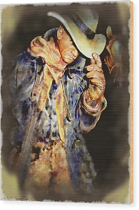 Howdy Mam How Do You Do Wood Print by Danielle  Parent