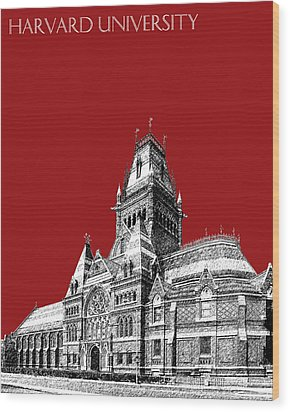 Harvard University - Memorial Hall - Dark Red Wood Print