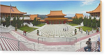 Hsi Lai Temple - 07 Wood Print by Gregory Dyer
