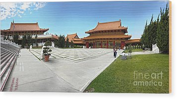 Hsi Lai Temple - 08 Wood Print by Gregory Dyer