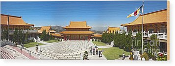 Hsi Lai Temple - 09 Wood Print by Gregory Dyer