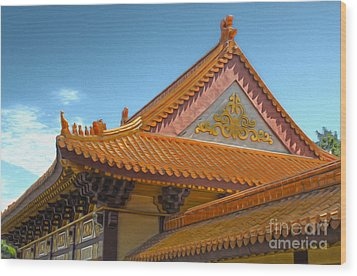 Hsi Lai Temple - 01 Wood Print by Gregory Dyer