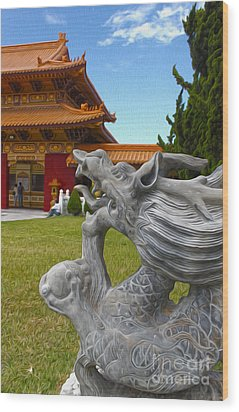 Hsi Lai Temple - 03 Wood Print by Gregory Dyer