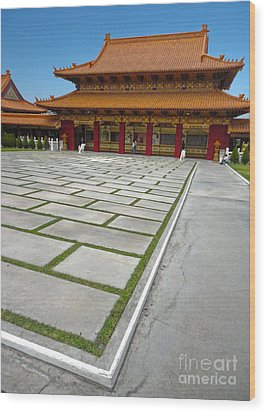 Hsi Lai Temple - 04 Wood Print by Gregory Dyer