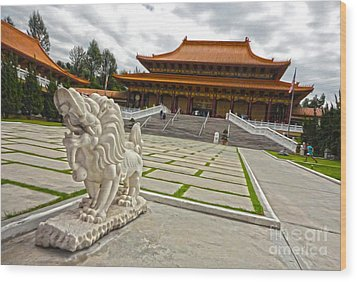 Hsi Lai Temple - 05 Wood Print by Gregory Dyer