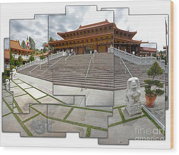 Hsi Lai Temple - 06 Wood Print by Gregory Dyer